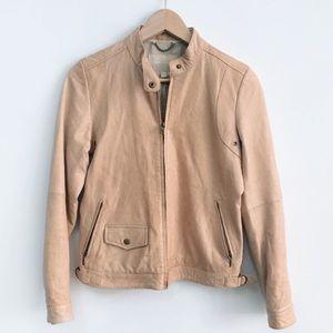 Banana republic tan leather jacket